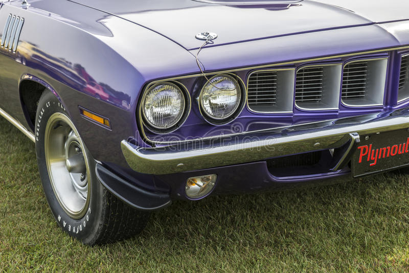 grade 1971 dianteira do cuda foto de stock