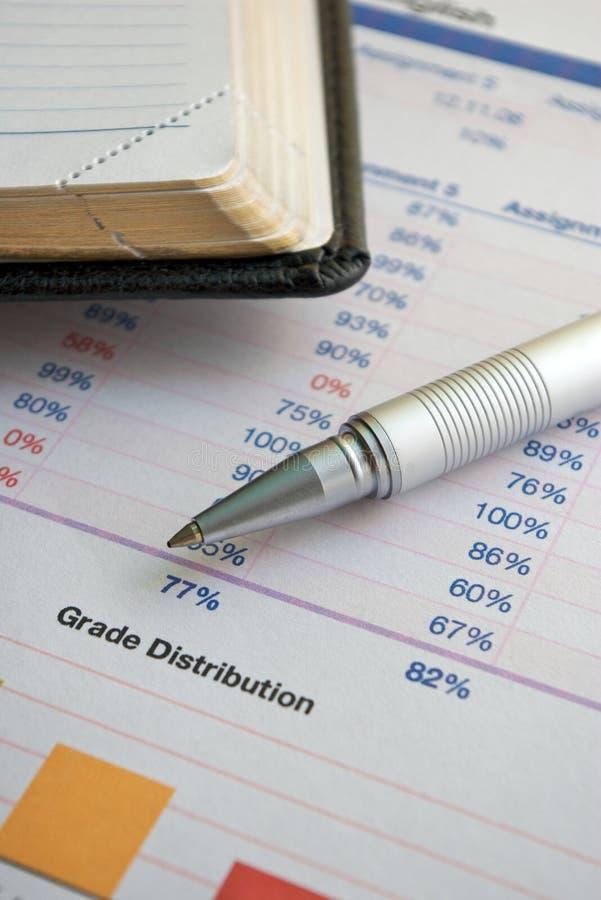 Grade Distribution stock photos