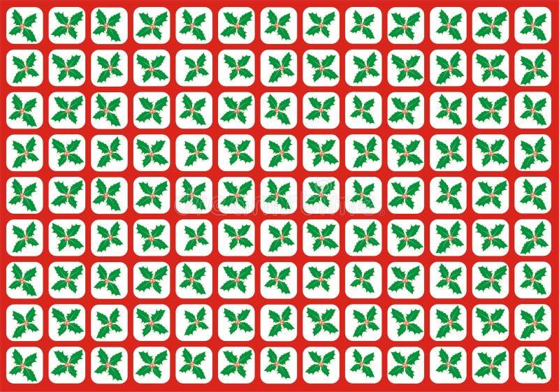 Grade do azevinho ilustração do vetor