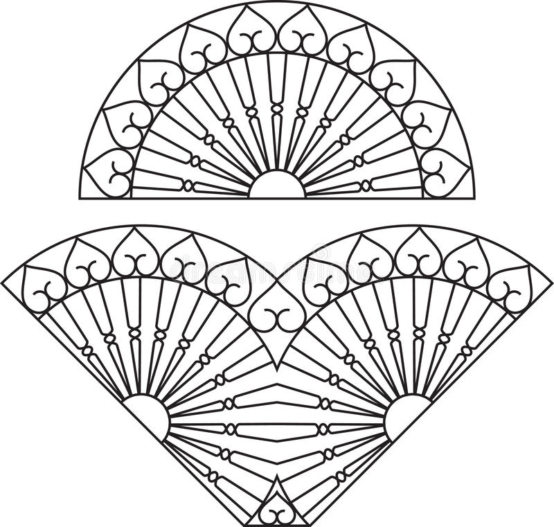 Grade do ferro forjado ilustração royalty free