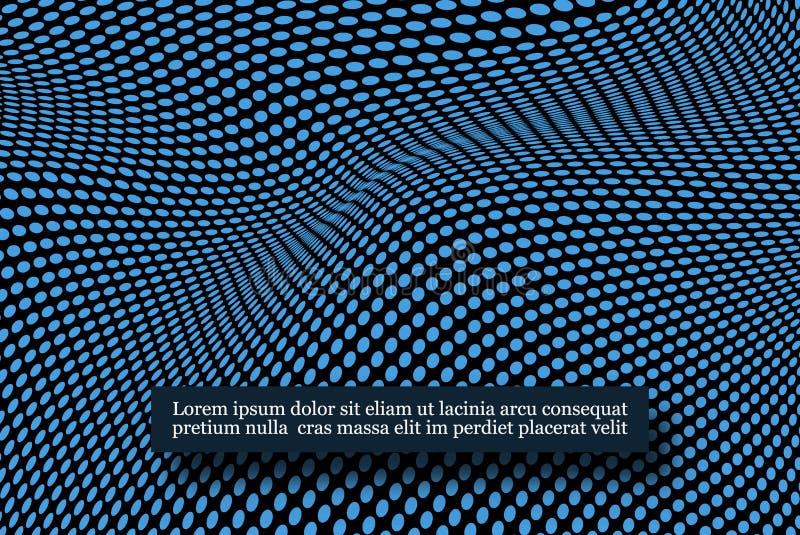 Grade do fractal dos pontos da onda Ciência futurista infographic Visualização sadio ilustração royalty free