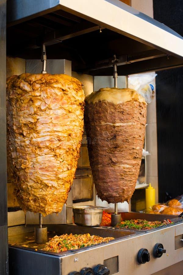 Grade do Oriente Médio da carne do cordeiro angular da galinha fotos de stock royalty free