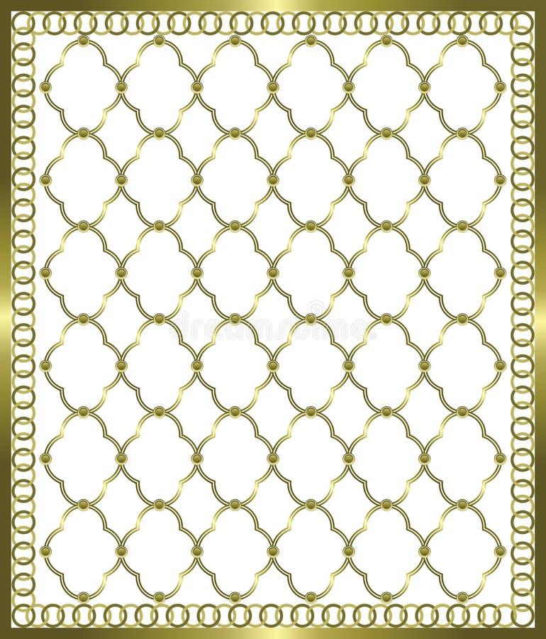 Grade do ouro ilustração royalty free