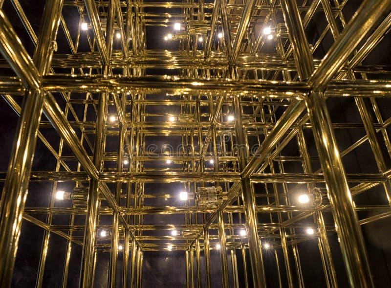 Grade do ouro em um fundo preto foto de stock royalty free