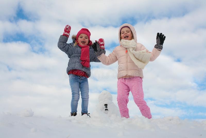 Grade dois bonito na neve foto de stock royalty free