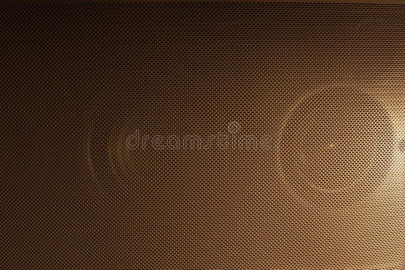 Grade dourada do orador imagem de stock royalty free