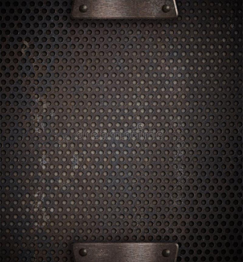 Grade furada ou perfurada do metal imagens de stock