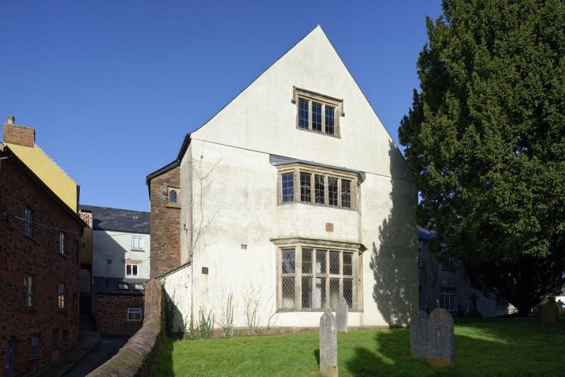 Grade II listed Church Hall, Wiveliscombe. Grade II listed Church Hall, Rotten Row, Wiveliscombe, Somerset stock photo