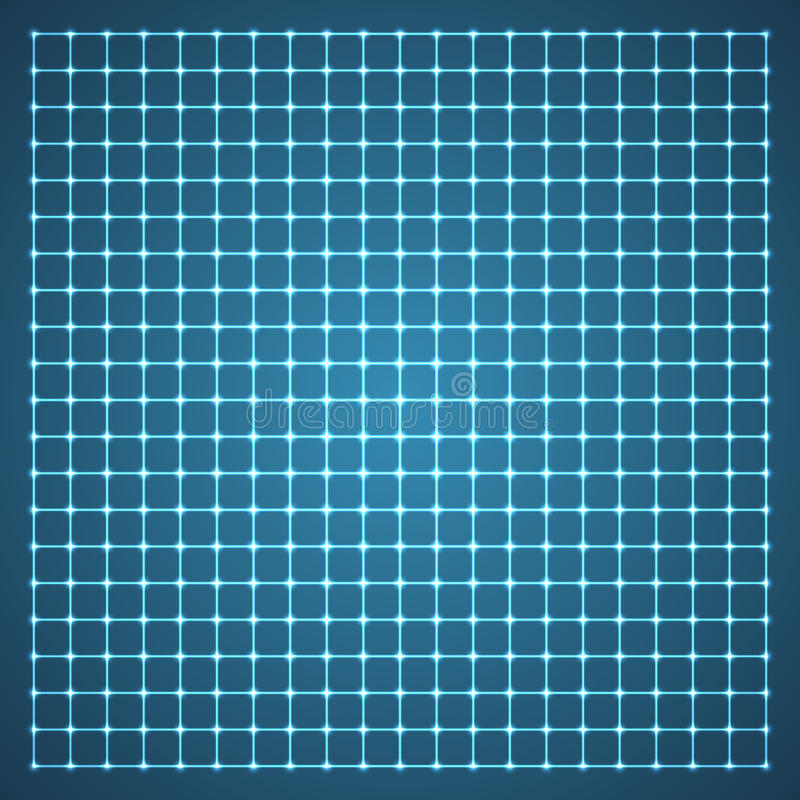 Grade iluminada. ilustração stock
