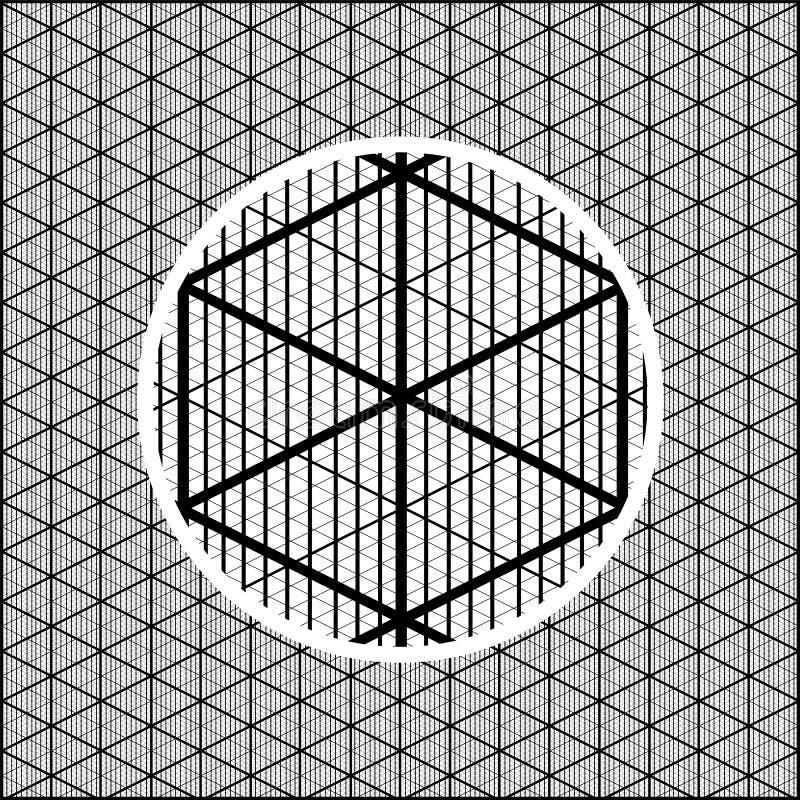 Grade isométrica detalhada para criar imagens volumétricos para jogos ilustração do vetor