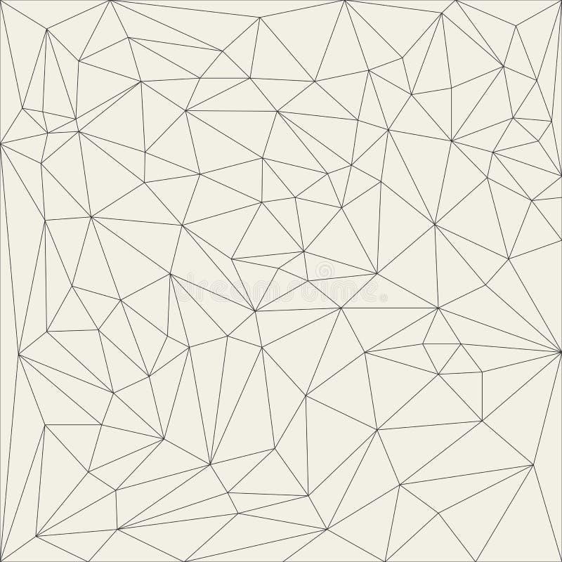 Grade linear abstrata irregular Teste padrão monocromático Reticulated da textura ilustração do vetor