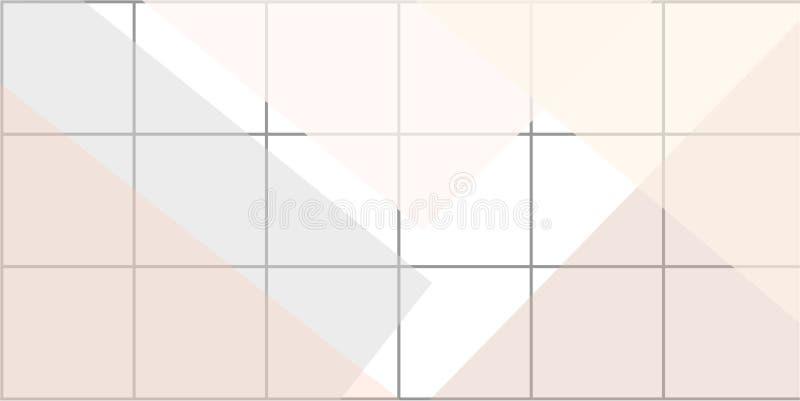Grade linear com formas geométricas, quadrados, triângulo Fundo da arte abstrato com elementos geométricos ilustração do vetor