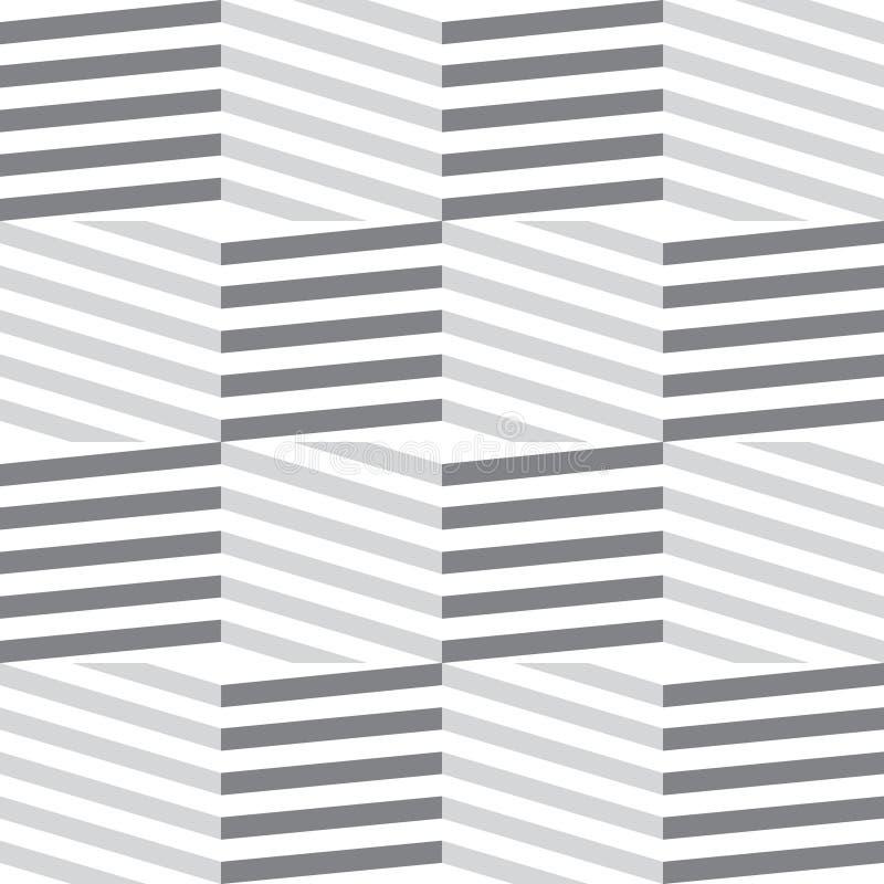 Grade linear com hexágonos listrados Fundo geométrico sextavado ilustração royalty free
