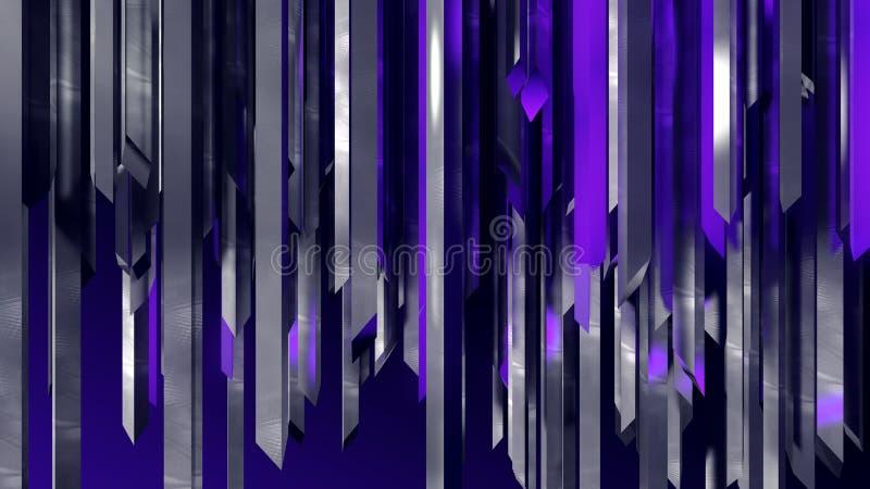 Grade místico da coluna vertical industrial de aço inoxidável abstrata dos cristais fotografia de stock