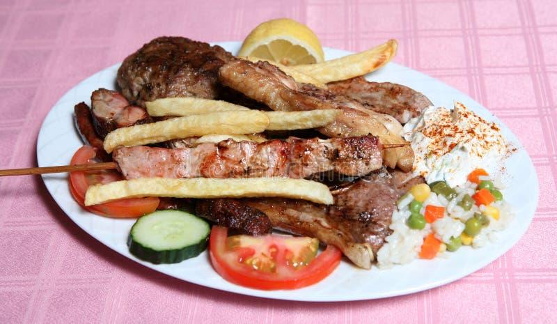 Grade misturada do taverna grego fotografia de stock