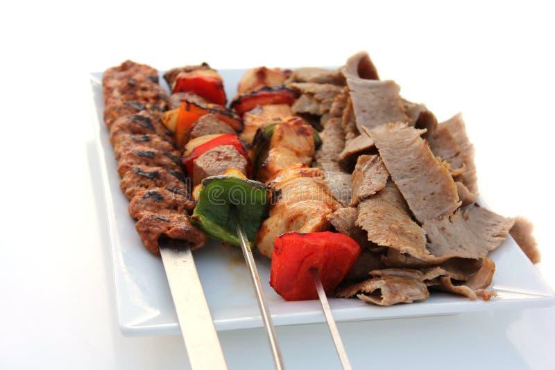 Grade misturada e Shawarma imagem de stock