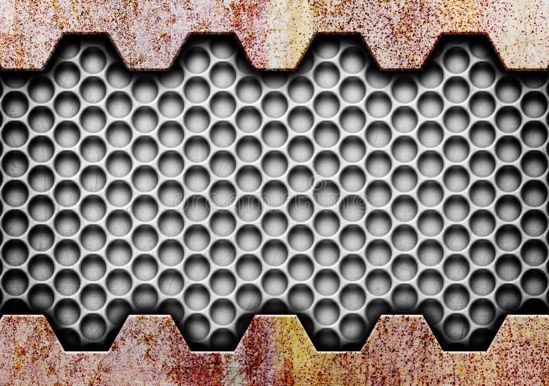 Grade oxidada do metal da textura no fundo ilustração royalty free