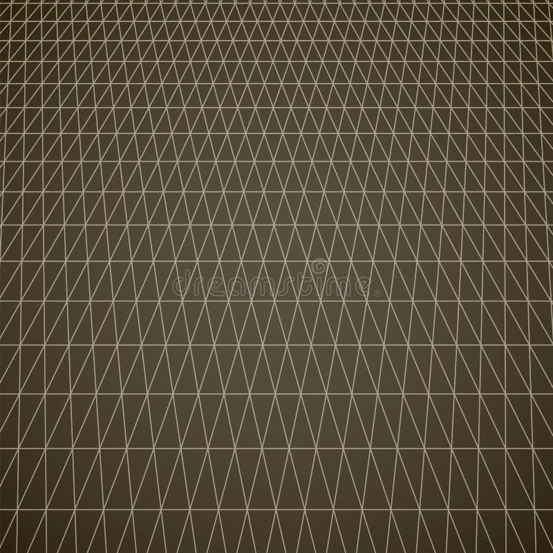 Grade triangular espacial Geométrico abstrato ilustração do vetor