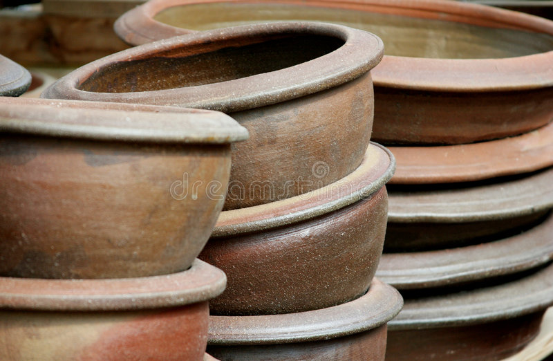 Download Graden's pots stock photo. Image of large, improvement - 1240888