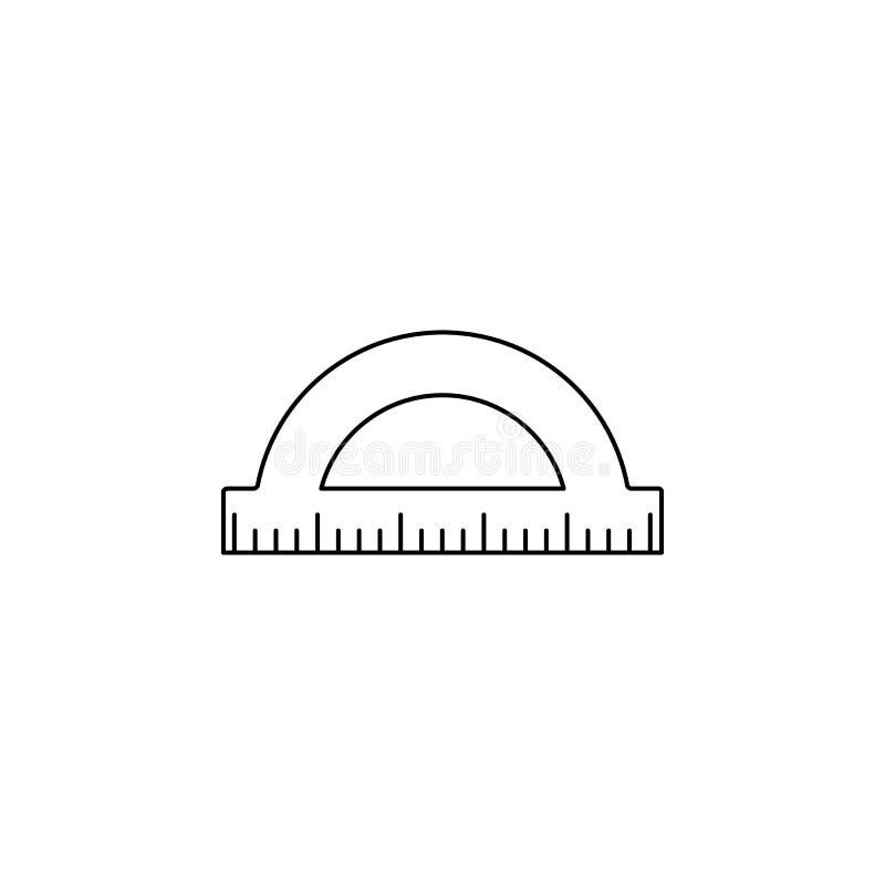 Gradenboogpictogram Element van meetinstrumenten voor mobiel concept en Web apps Dun lijnpictogram voor websiteontwerp en develop royalty-vrije illustratie