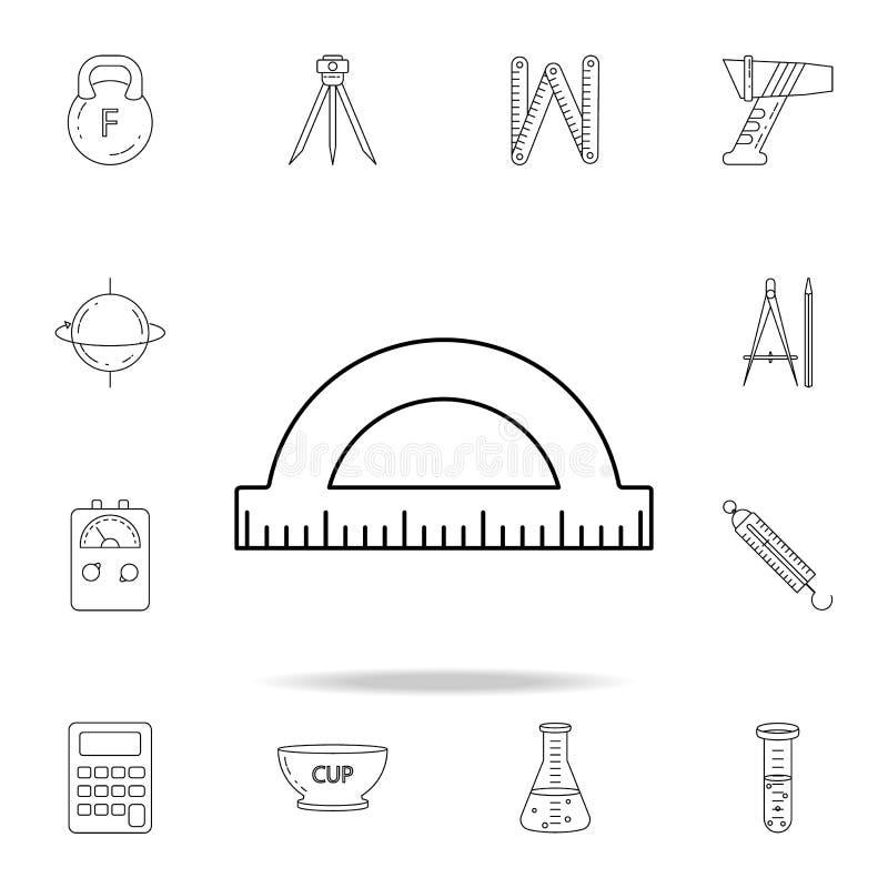Gradenboogpictogram Gedetailleerde reeks meetinstrumentenpictogrammen Premie grafisch ontwerp Één van de inzamelingspictogrammen  stock illustratie