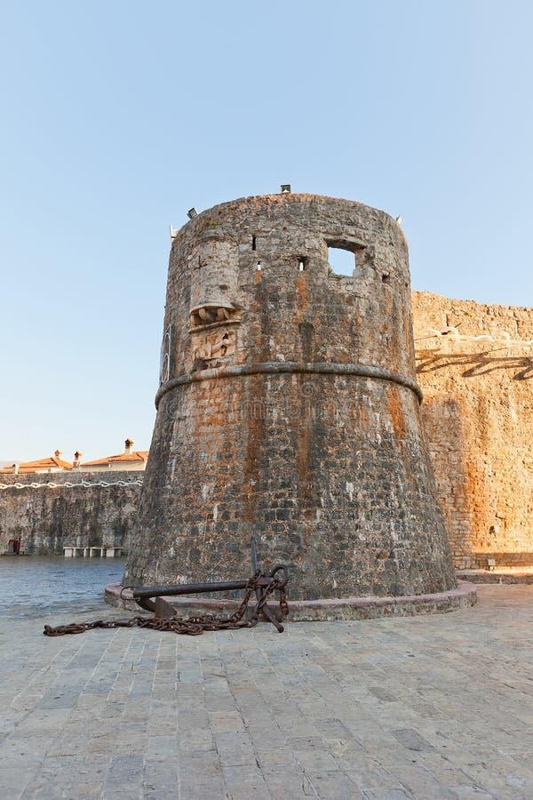 Gradenigotoren van Oude Stad van Budva, Montenegro royalty-vrije stock afbeeldingen