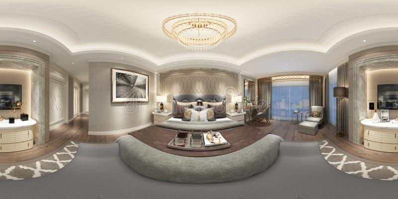 360 grader hemmiljö royaltyfri illustrationer
