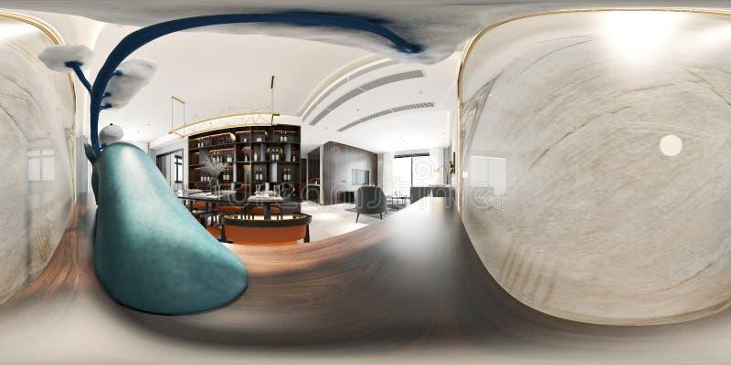 360 grader hemmiljö vektor illustrationer