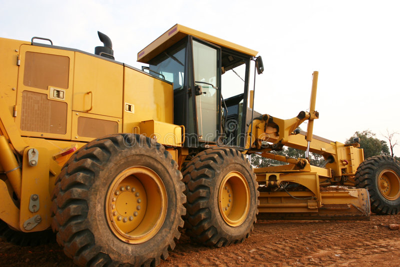 Grader road construction royalty free stock image