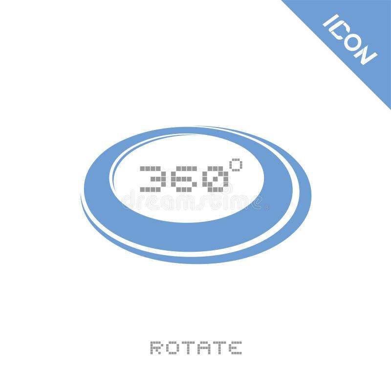 360 grader roterar symbolen stock illustrationer