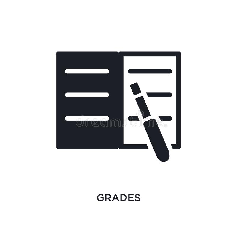 grades isolated icon. simple element illustration from e-learning and education concept icons. grades editable logo sign symbol vector illustration