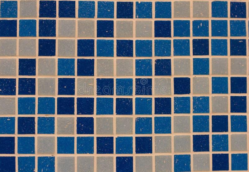 Gradiënt blauw gekleurd mozaïek stock fotografie