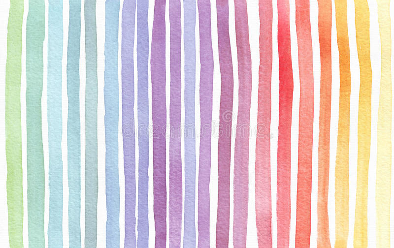 Gradiënt geploeterde die regenboogachtergrond, hand met waterverfinkt wordt getrokken Naadloos geschilderd patroon, goed voor dec royalty-vrije stock afbeeldingen