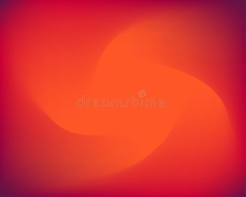 Gradiënt rode sinaasappel vage trechter stock foto