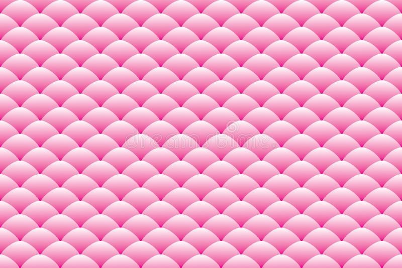 Gradiënt roze ovaal gestapeld patroon vector illustratie