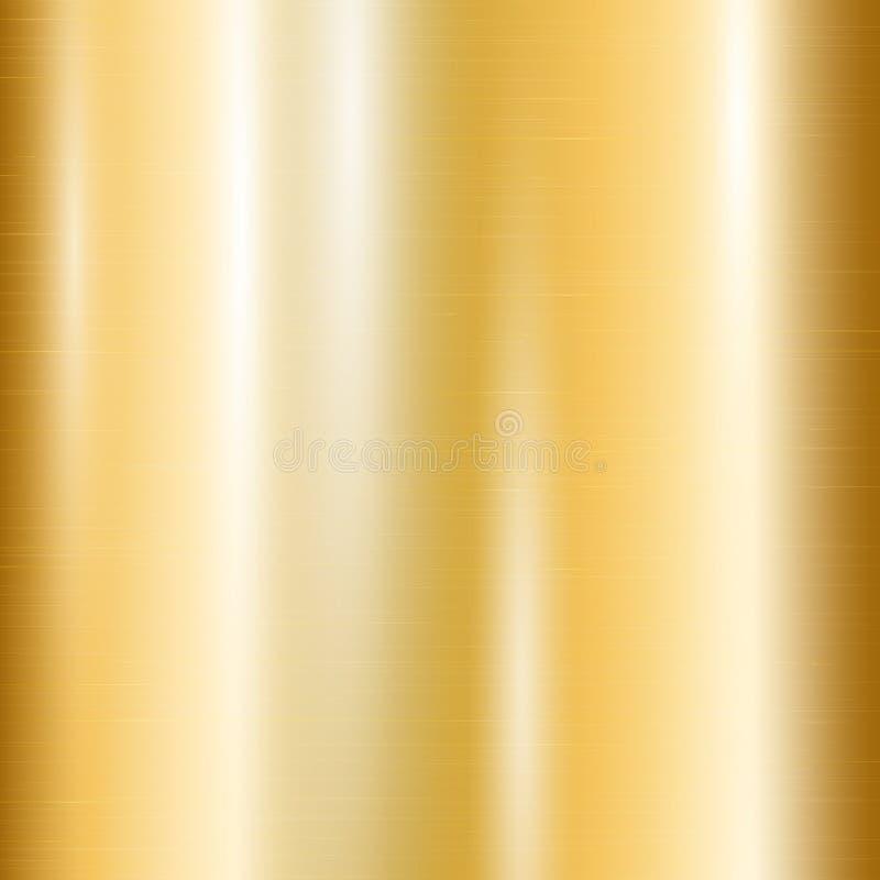 Gradiënt van geel goud stock illustratie