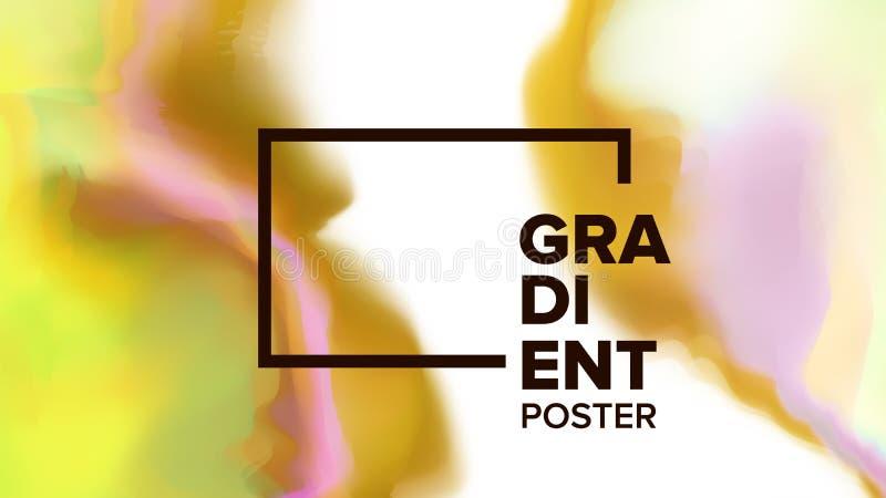 Gradiënt Vloeibare Vector Als achtergrond Digitaal Concept Bedrijfsdruk Inktverf Vloeibare Ontwerpillustratie vector illustratie