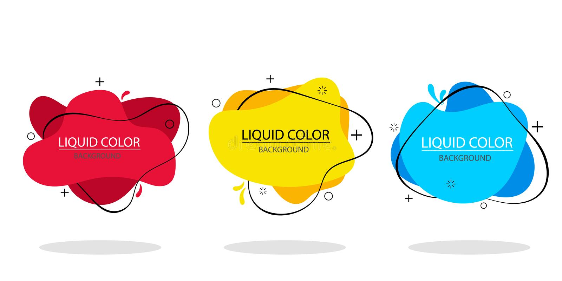 In gradiënt vloeibare vorm Vloeibare isometrische achtergrond Grafische Vectorillustratie vector illustratie