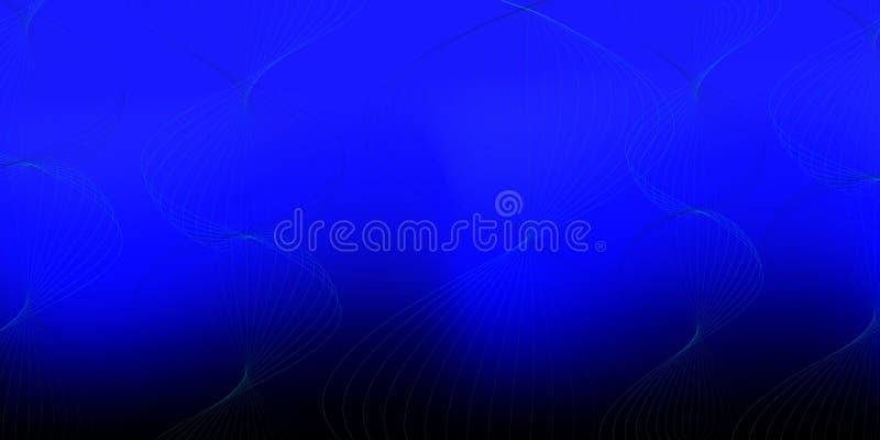 Gradiëntachtergrond met wervelende golvende lijnen op donkere oppervlakte, moderne vectorkunst voor Web en grafiek vector illustratie