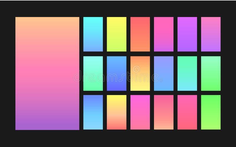 Gradiëntachtergronden voor ontwerp stock illustratie