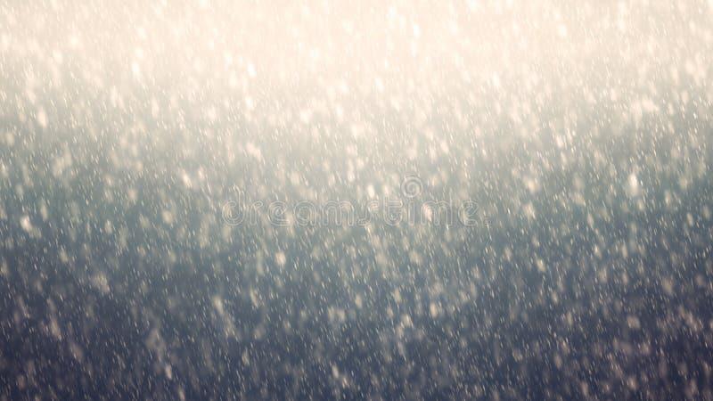 Gradiënthemel met dalende eerste sneeuw, sneeuwvlok De achtergrond van de vakantiewinter voor Vrolijke Kerstmis en Gelukkig Nieuw royalty-vrije stock foto's