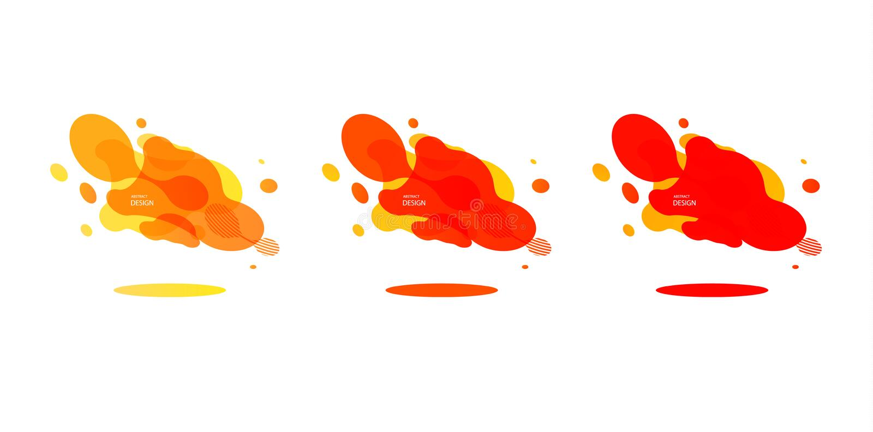 Gradi?nt geometrische banners met stromende vloeistofvormen Dynamisch Vloeibaar ontwerp voor embleem, vliegers of presentstion Sa vector illustratie