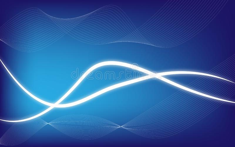 Gradien modern bakgrund för abstrakt glöd med blått tema stock illustrationer