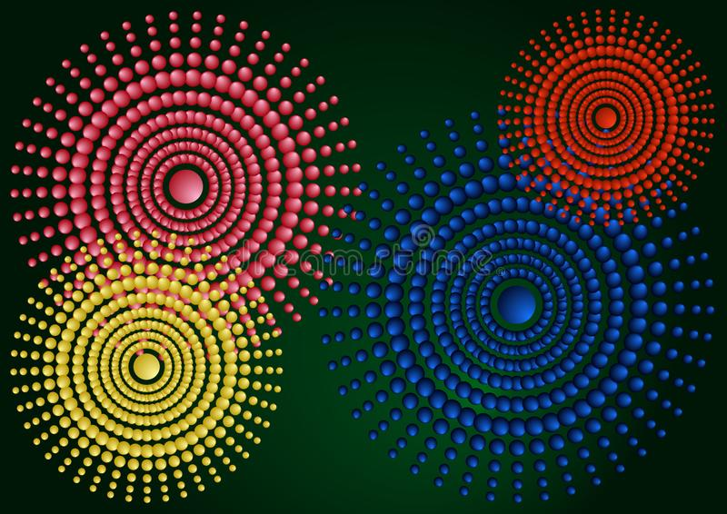 Gradient abstract illustration with circles. stock illustration