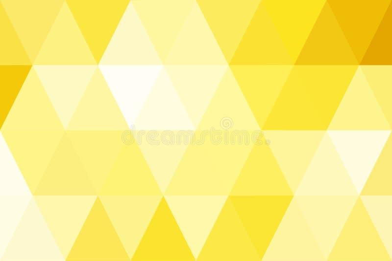Gradient abstrait d'or de triangles pour le fond Style géométrique illustration de vecteur