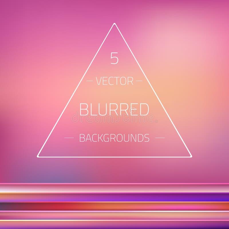Gradient abstrait Mesh Blurred Passion Vector 5 illustration libre de droits