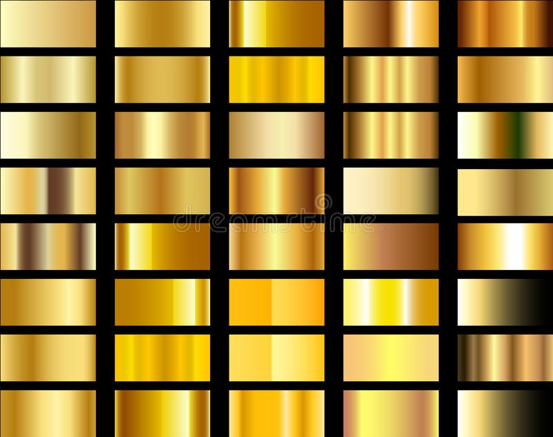 Gradient and background gold illustration collection stock photos