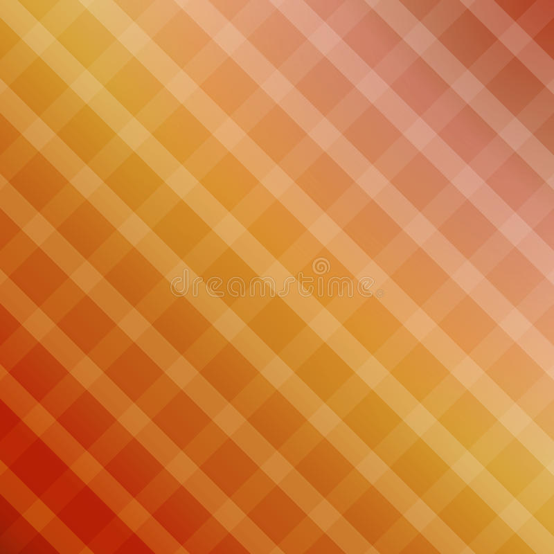Gradient background with squares. Gradient color background ( red, yellow ) with squares stock illustration