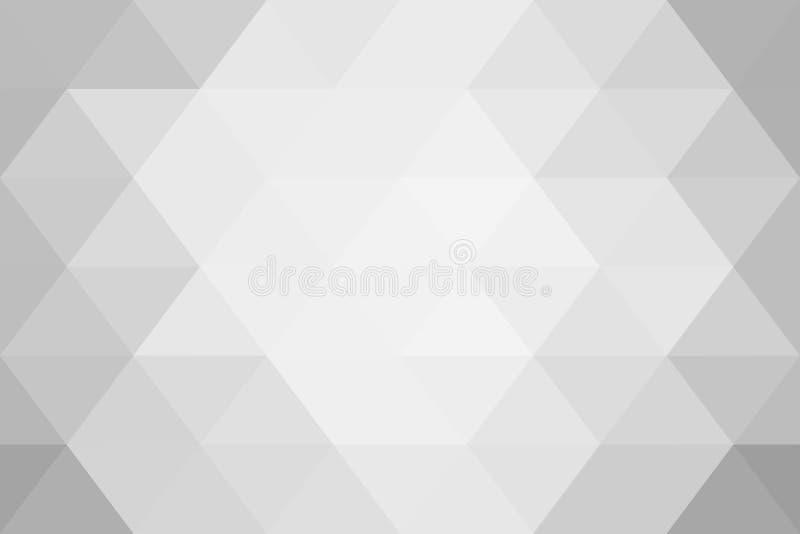 Gradient blanc de triangles abstraites pour le fond styl géométrique photo libre de droits