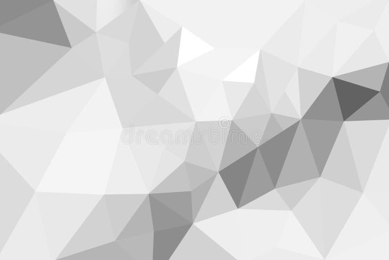 Gradient blanc de triangles abstraites pour le fond styl géométrique images stock